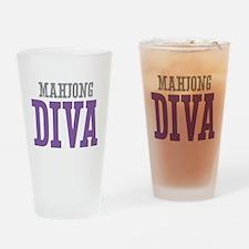 Mahjong DIVA Drinking Glass