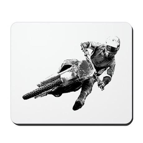 Grooving it on a dirt bike Mousepad