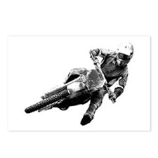 Grooving it on a dirt bike Postcards (Package of 8