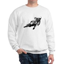 Grooving it on a dirt bike Sweatshirt