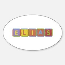 Elias Foam Squares Oval Decal
