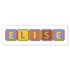 Elise Foam Squares Bumper Bumper Sticker