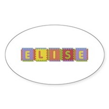 Elise Foam Squares Oval Decal