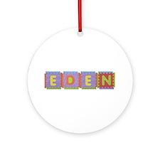 Eden Foam Squares Round Ornament