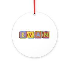 Evan Foam Squares Round Ornament