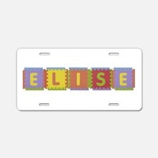 Elise Foam Squares Aluminum License Plate