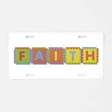 Faith Foam Squares Aluminum License Plate