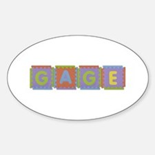 Gage Foam Squares Oval Decal