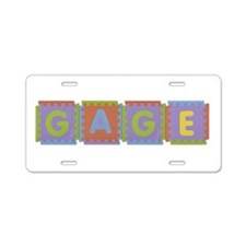 Gage Foam Squares Aluminum License Plate