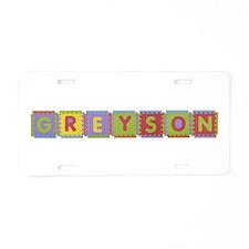 Greyson Foam Squares Aluminum License Plate
