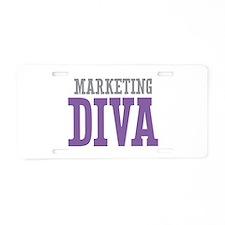 Marketing DIVA Aluminum License Plate