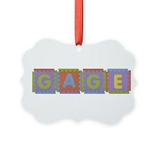 Gage Foam Squares Ornament