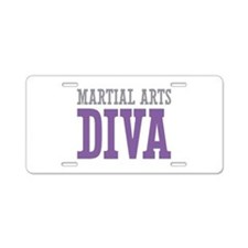 Martial Arts DIVA Aluminum License Plate