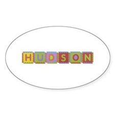 Hudson Foam Squares Oval Decal