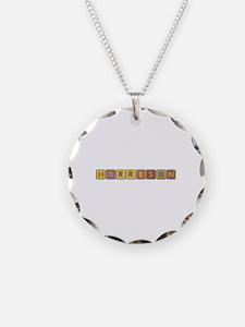 Harrison Foam Squares Necklace Circle Charm