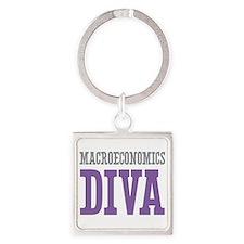 Macroeconomics DIVA Square Keychain