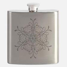 Iridescent Snowflake Flask
