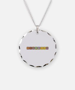 Isabella Foam Squares Necklace Circle Charm