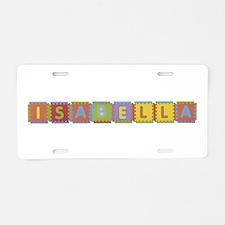 Isabella Foam Squares Aluminum License Plate