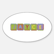 Jayce Foam Squares Oval Decal