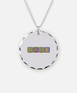 Jake Foam Squares Necklace Circle Charm