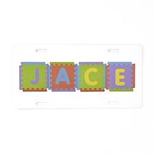 Jace Foam Squares Aluminum License Plate