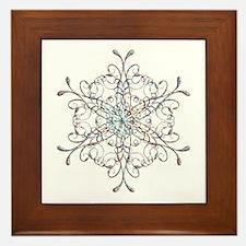 Iridescent Snowflake Framed Tile