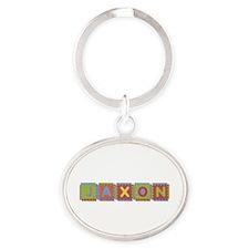 Jaxon Foam Squares Oval Keychain