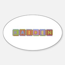 Kaiden Foam Squares Oval Decal