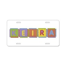 Keira Foam Squares Aluminum License Plate