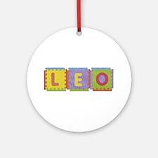 Leo Foam Squares Round Ornament