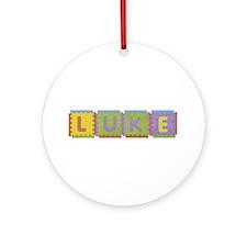 Luke Foam Squares Round Ornament
