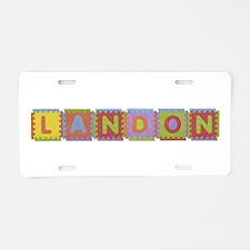 Landon Foam Squares Aluminum License Plate