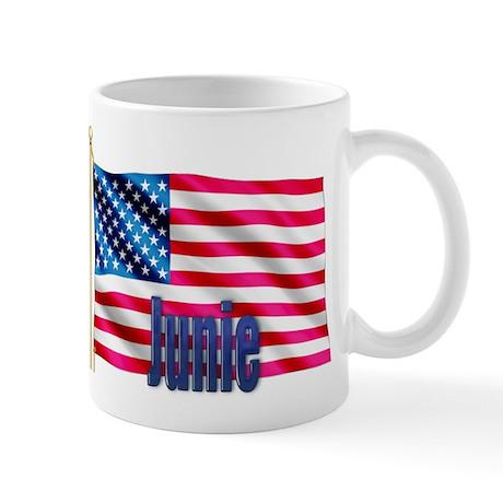 Junie Patriotic American Flag Mug