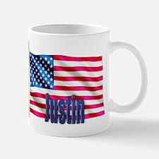 Justin Patriotic American Flag Mug