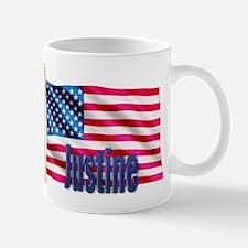 Justine Patriotic American Flag Mug