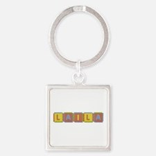 Laila Foam Squares Square Keychain