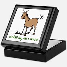 Buy me a horse saying Keepsake Box
