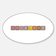 Madeline Foam Squares Oval Decal