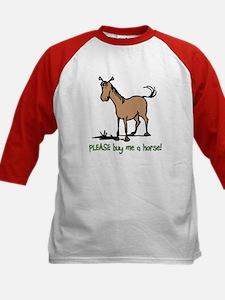 Buy me a horse saying Kids Baseball Jersey