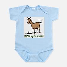 Buy me a horse saying Infant Bodysuit