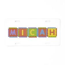 Micah Foam Squares Aluminum License Plate