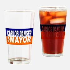 Carlos Danger for Mayor Drinking Glass
