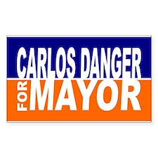 Carlos Danger for Mayor Decal