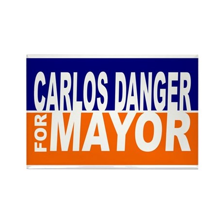 Carlos Danger for Mayor Rectangle Magnet