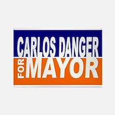 Carlos Danger for Mayor Rectangle Magnet
