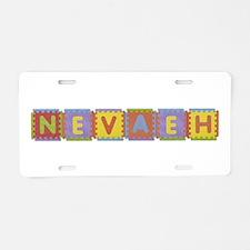 Nevaeh Foam Squares Aluminum License Plate