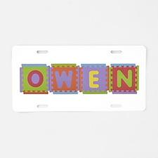 Owen Foam Squares Aluminum License Plate