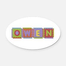 Owen Foam Squares Oval Car Magnet
