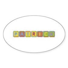 Patrick Foam Squares Oval Decal